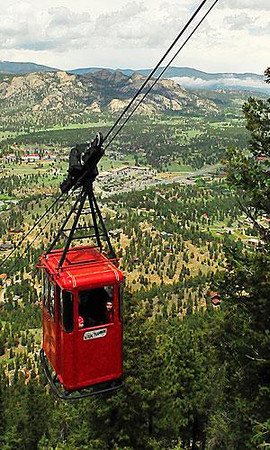 What a view Skies cleared to reveal a spectacular view of Estes Park from the Aerial Tramway Wednesday. Photo by Walt Hester