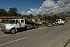 Photo by Walt Hester<br /> An\ two-car accident held up traffic on S. St. Vrain Avenue on Tuesday.