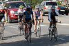 Photo by Walt Hester<br /> A small pack of cyclists cruise through Estes Park on Saturday morning. A fit, competitive cyclist can easily maintain the posted 25-mile per hour speed limit downtown.