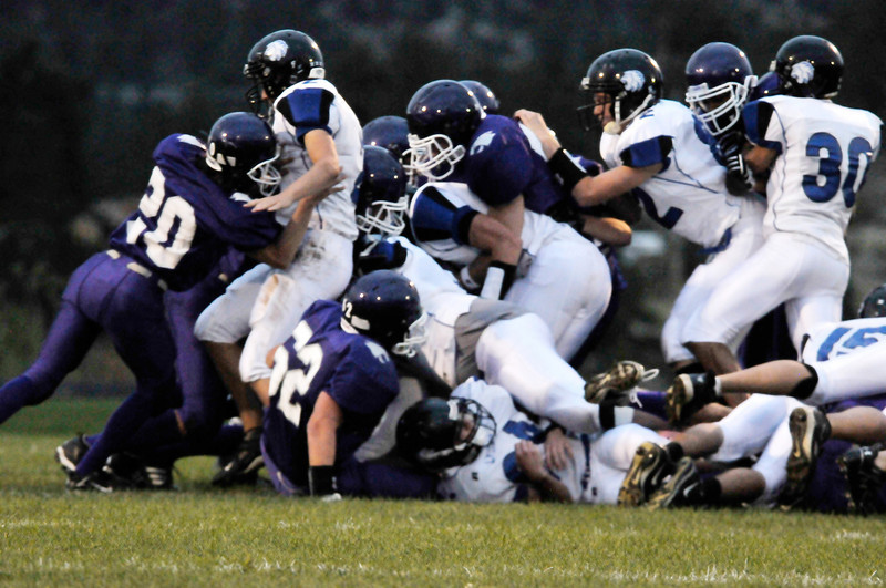 Photo by Walt Hester<br /> The Bobcats' defense showed some spark in the loss to Lyons.