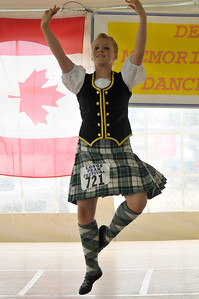 Photo by Walt Hester A highland dancer shows judges her fancy footwork on Sunday. Both Scottish Highland and Irish dancers, with several divisions and styles within them, compete during the weekend.