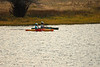 Photo by Walt Hester<br /> A pair of kayakers gently float on Lake Estes on Wednesday.