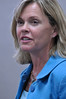 Photo by Walt Hester<br /> Congresswoman Betsy Markey, D - Colo., answers heath care questions at the Estes Park Public Library on Thursday. Markey represents the Fourth Congressional District, including Estes Park and the Eastern Plains.