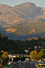 Photo by Walt Hester<br /> Sunrise paints Otis Peak and Estes Park on Friday to begin the Labor Day weekend. The traditional last weekend of the visitors' season enticed visitors up to see the national park and events in Estes Park.