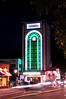 Photo by Walt Hester<br /> Lights from Moraine Avenue traffic accompany the neon of the Park Theater on Saturday.