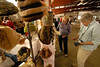 Photo by Walt Hester<br /> Sara Tyler and Carol Struve, both of Estes Park take a closer look at alpaca yarn at the annual Alpaca Show at the Stanley Fairgrounds on Saturday. The two-day event featured all things Alpaca, from breeding and ranching to spinning and weaving and the final product.