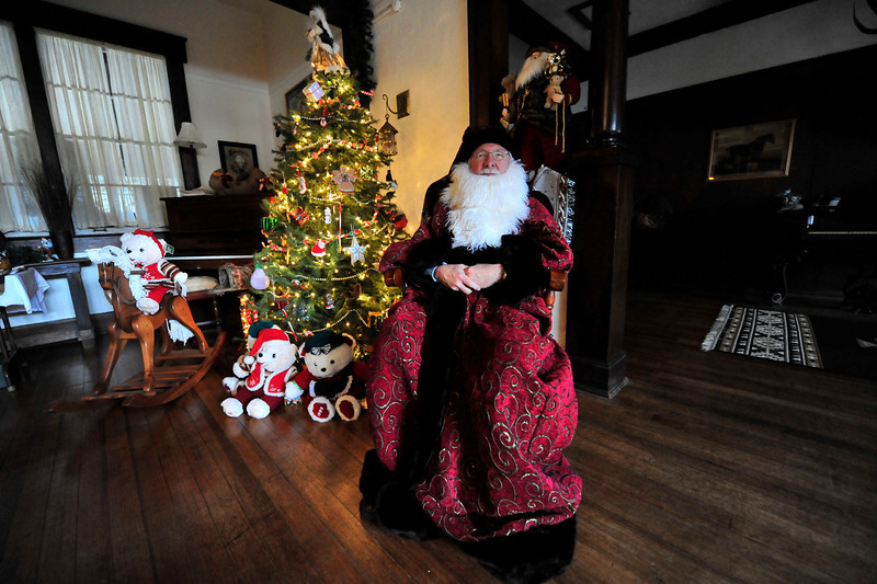 Walt Hester | Trail-Gazette<br /> Larry Purdy makes a fine old-time Santa at Elkhorn Lodge on Sunday. The lodge is hosting an old-time Christmas this weekend, as well.