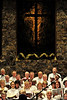 Walt Hester | Trail-Gazette<br /> A cross hangs above the Oratorio Society as they perform Handel's Messiah at the Mountain View Bible Fellowship on Sunday.