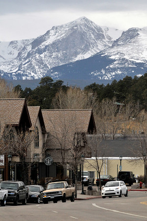 Walt Hester | Trail-Gazette<br /> Clouds and snow descend on Estes Park on Saturday. The sun is expected to return by mid-week.