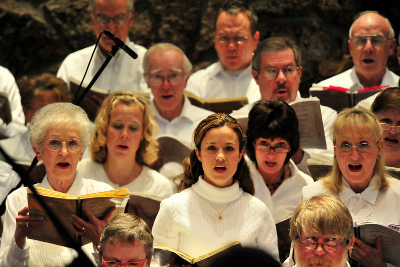 Walt Hester | Trail-Gazette<br /> Voices of the Oratorio Society of Estes Park sings Handel's Messiah on Sunday. The Oratorio enjoyed large crowds on both Saturday and Sunday.