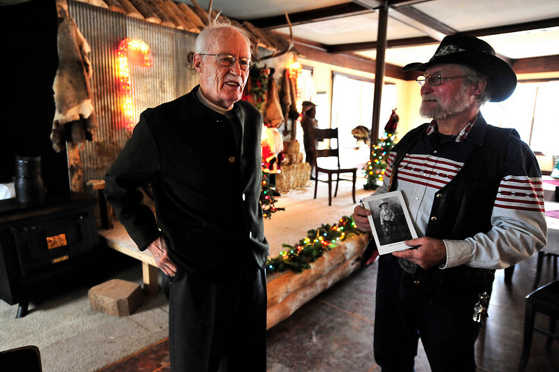 Walt Hester | Trail-Gazette<br /> Pieter Hondius smiles on Sunday before sharing stories of his upbringing in the Elkhorn Lodge. Hondius' family ran the lodge in it's early days.