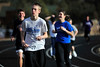 Walt Hester | Trail Gazette<br /> High school students warm up outside during an unusually warm January day on Wednesday. The mild temperatures were a wonderful surprise for some, though not all enjoyed the short jog.