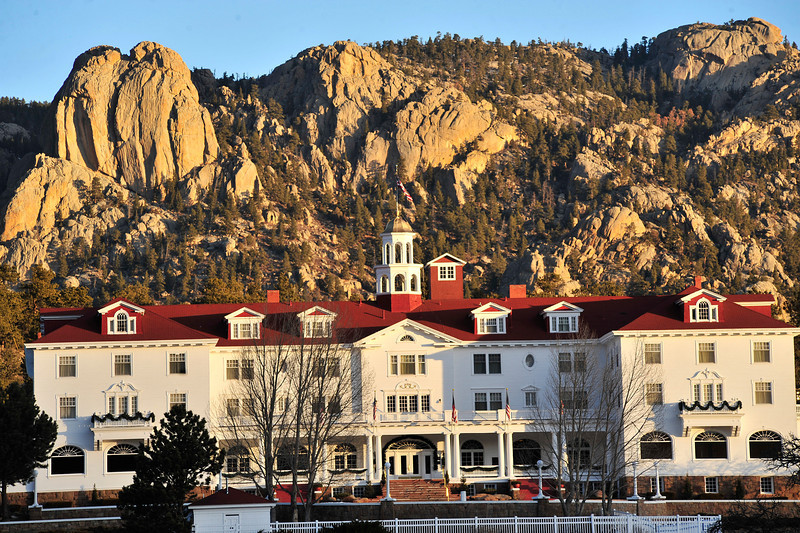 Walt Hester | Trail Gazette<br /> Estes Park's famous landmarks bask in the New Year's first morning light on Sunday.