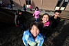 Walt Hester | Trail Gazette<br /> Happy Estes Park first-graders mug in the morning light on their way in from recess on Wednesday. There should be plenty of sun to coax smiles in Estes Park over the weekend.