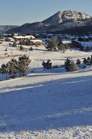 Walt Hester | Trail Gazette<br /> New snow blankets Estes Park on Sunday morning. More snow is likely on Wednesday.