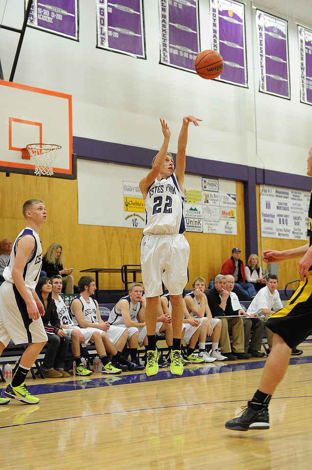 Walt Hester | Trail Gazette<br /> Andrew Cirone shoots for three of his total 17 points against the Valley Vikings on Tuesday. Three Bobcats scored on double figures, but it was not enough as the third-ranked Vikings beat the 'Cats 67-52.