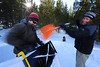 Walt Hester | Trail Gazette<br /> Frank Ferree of Estes Park, left, and Andrew Lawrence of Fort Collins build an igloo at the annual Winter Trails Day in Rocky Mountain National Park on Saturday. The Ice Box was created by a Lyons company, Grand Shelters.