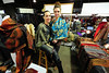 Walt Hester   Trail Gazette<br /> Veronika Londono, left, formerly of West Palm Beach, Fla., and Tirzah Sandt of Bailey display Shalls by Veronika at the Winter Festival on Sunday. Londono moved to Boulder hoping the cooler climbs could result in better sales.