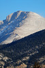 Walt Hester | Trail Gazette<br /> Long, early morning shadows cover the west side of a Mummy-Range peak on Tuesday. The peaks my be hard to see for a few days as cold fronts may move in over the weekend.