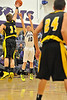 Walt Hester | Trail Gazette<br /> Taylor Marshall, here against Valley, led the Bobcats in scoring with 12 in a losing effort against University on Friday. Estes Park, now 4-11 is suffering through a five game losing skid.
