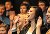 Walt Hester | Trail Gazette<br /> Teresa Procter and the Nordic Choir of Luther College performs at the Estes Park High School on Monday. The choir was touring in the area and made a stop to show Estes Park students what a college choir was like.