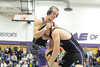 Walt Hester | Trail Gazette<br /> Nate Dewitt of Estes Park grapples in a semifinal match in the 170 weight class in the Thin Air tournament on Saturday. Dewitt won the weightclass, the best finish among Bobcat wrestlers.
