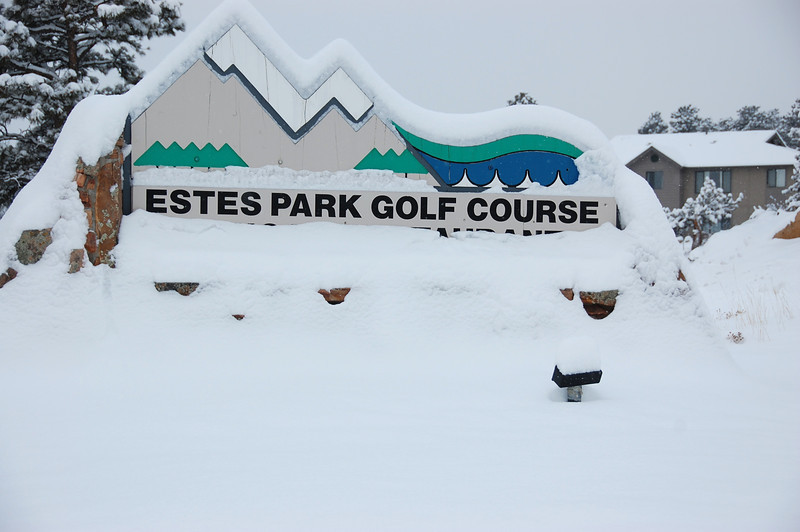 There were a few extra hazards at the Estes Park 18-hole golf course Friday morning. A Feb. 3 storm had dumped close to 10 inches of snow on the area by mid-morning with more expected throughout the day.