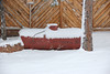 The reds of a propane tank, and browns of a fense at a home on Prospect Avenue provide a stark contrast to the whites of the Feb. 3 snow storm that dumped close to 10 inches of snow in some places of the Estes Valley. Snow was expected to continue falling throughout Friday and into Saturday.