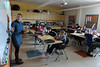 Walt Hester | Trail Gazette<br /> Estes Park Middle School science teacher Jennifer Taylor prepares her class for the upcoming Science Fair. The students have just begun their scince projects for the fair, scheduled for May 11.