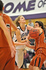 Walt Hester   Trail Gazette<br /> Senior Evelyn Bangs gets fouled in the key against Mead on Tuesday. The girls host Platte Valley for the second time in eight days at 6p.m. on Friday as the Patriot League Tournament begins.