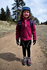 Walt Hester | Trail Gazette<br /> Nora Abshire, 7, of Denver starts a hike with her family on Sunday. The Cow Creek Trail's terrain is as family-friendly as any in Rocky Mountain National Park.