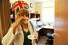 Walt Hester | Trail Gazette<br /> Dr. Amanda Luchsinger enjoys a spot of tea while proudly displaying her tea cozy at the Family Medical Center on Wednesday. The doctors at the Estes Park Medical Center were recognised and slightly pampered as part of National Doctors' Day.