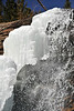 Walt Hester | Trail Gazette<br /> Water cascades over Bridal Veil Falls, sculpting the disappearing ice.