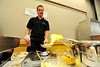 Walt Hester | Trail Gazette<br /> Mark Kozlowski of the YMCA of the Rockies lights up a banana flambe at the Estes Park Conference Center on Wednesday. The banana treat was one of many great dishes on offer at the annual Quota Club Taste of Estes.