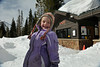 Walt Hester | Trail Gazette<br /> Sarah VanOrnum wears a smile and lots of snow clothes at Bear Lake on Tuesday. Bear Lake, at 9,500 feet, has 139 percent of the 30-year average snowpack, some 81 inches of snow.