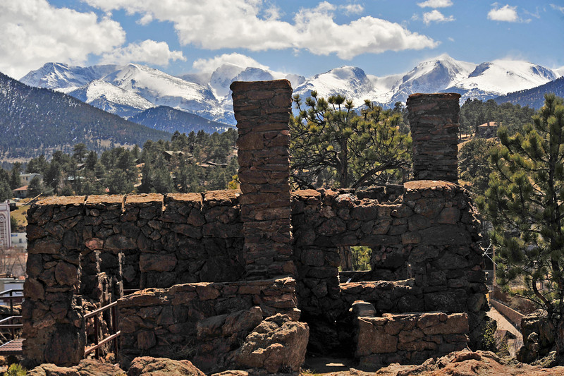 Walt Hester | Trail Gazette<br /> Dry and hollow ruins stand in dark contrast against the high, snow-capped Continental Divide on Wednesday. A long, snowy and chilly winter has packed the high peaks for what could be an exciting spring runoff.