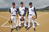 Walt Hester | Trail Gazette<br /> Estes Park High School's baseball team enjoys their first-ever senior day. For the 2011 season, the Bobcats' baseball seniors are, from left, Carson Joens, Zach Eitzen and Aaron Tulley.
