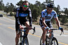 Walt Hester | Trail Gazette<br /> Team Sky's Jeremy Hunt of Great Britain and Saxo Bank-Sungard's Baden Cooke of Australia, bigin their ride toward Nederland and Boulder on Monday. The two seasoned pros were enjoying Estes Park's altitude while training for next week's Amgen Tour of California.