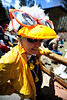 Walt Hester | Trail Gazette<br /> Alta Wachs of Estes Park proudly shows off her duckwear at the startline of the Duck Race on Saturday. Who needs mint juleps and big-brimmed hats with these fashions.