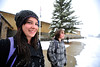 Walt Hester | Trail Gazette<br /> Maya Guffey, 16, and her brother, Milo, 13, stand in the afternoon snow awaiting their transportation on Thursday. While snow continued on Thursday, sunshine should return on Friday.