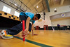 Walt Hester | Trail Gazette<br /> Fifth-grader Roberto Luna grabs his last baton during his shuttle run at the Estes Park Elementary School on Friday. Students were assest on agility, strength, stamina and endurence for the Presidential Physical Fitness Awards.