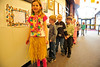 Walt Hester | Trail Gazette<br /> Anna Roberts, 6, sports Hawaiian fashion at the Estes Park Elementary School on Wednesday. Children were encouraged to wear Hawaiian clothing on Wednesday.