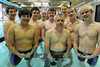 Walt Hester | Trail-Gazette<br /> The Estes Park High School boys swim team prepares for this week's Colorado State Swim Championships at Mesa State College in Grand Junction. From left, the state team members are; John Oja, Andrew Park, Storm Wolf, Luke Holmes, Forrest Beesley, Jacob Westley, Ben VanderWerf, TJ Hall, Justion Wahler and, not shown, Dylan Westover.