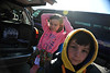 Walt Hester | Trail Gazette<br /> Abbie, left, and Gabe Housewrite prepare for school in the Estes Park Elementary School parking lot on Tuesday. This is the last week of school for Estes Park students.