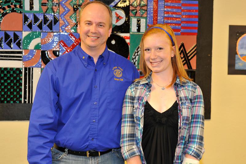 Walt Hester | Trail Gazette<br /> Longs Peak Rotary - Caroline Miller. Presenter - Chris Gallagher