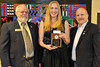 Walt Hester | Trail Gazette<br /> Town of Estes Park Student Pride Award - Annika VanderWerf. Presenters - Jerry Miller and Chuck Levine.