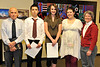 Estes Park Helping Hands - Daniel Rojas, Gabrielle Davis and Makenzie Wilson. Presenters - Jim Allen and Karen Thompson.