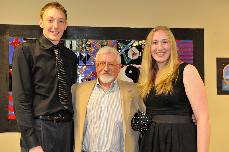 Walt Hester | Trail Gazette<br /> Lions Club - Ben and Annika VanderWerf. Presenter - Mike Oline.