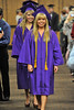 Walt Hester | Trail Gazette<br /> Taylor Pastuer and Audra Sherman lead their graduating class into the conference hall at the YMCA of the Rockies on Friday. These two, as well as Annika VanderWerf and Caroline Miller were the class' Valedoctorians.
