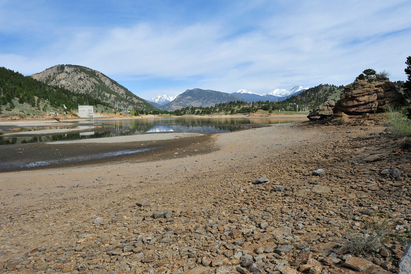 Walt Hester | Trail Gazette<br /> Mary's Lake sit low and exposed on Wednesday morning.